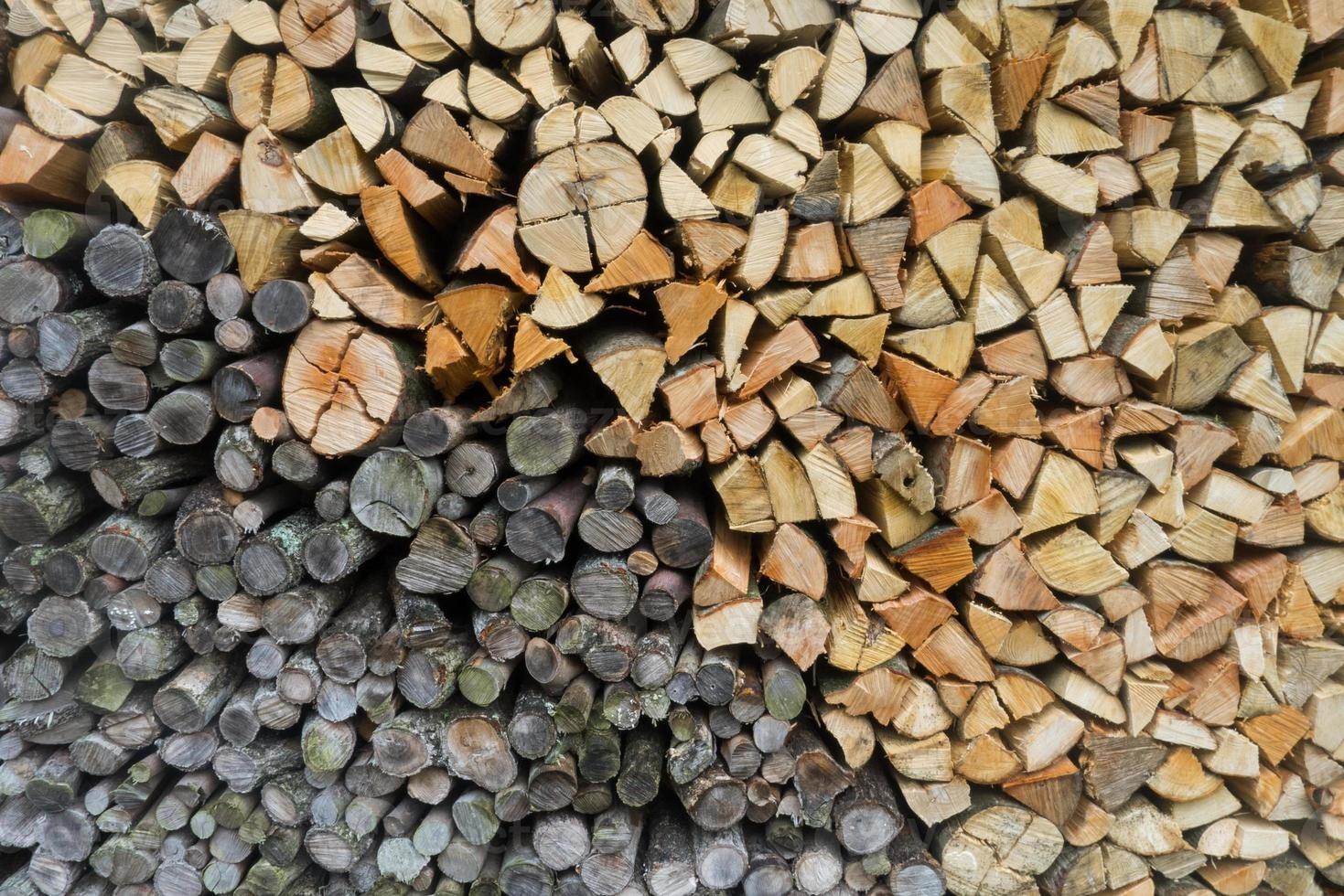 sfondo di tronchi di legno foto