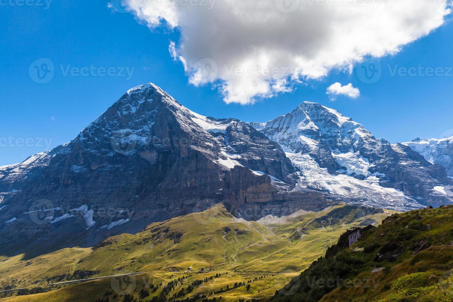 parete nord eiger, ghiacciaio eiger e monch foto