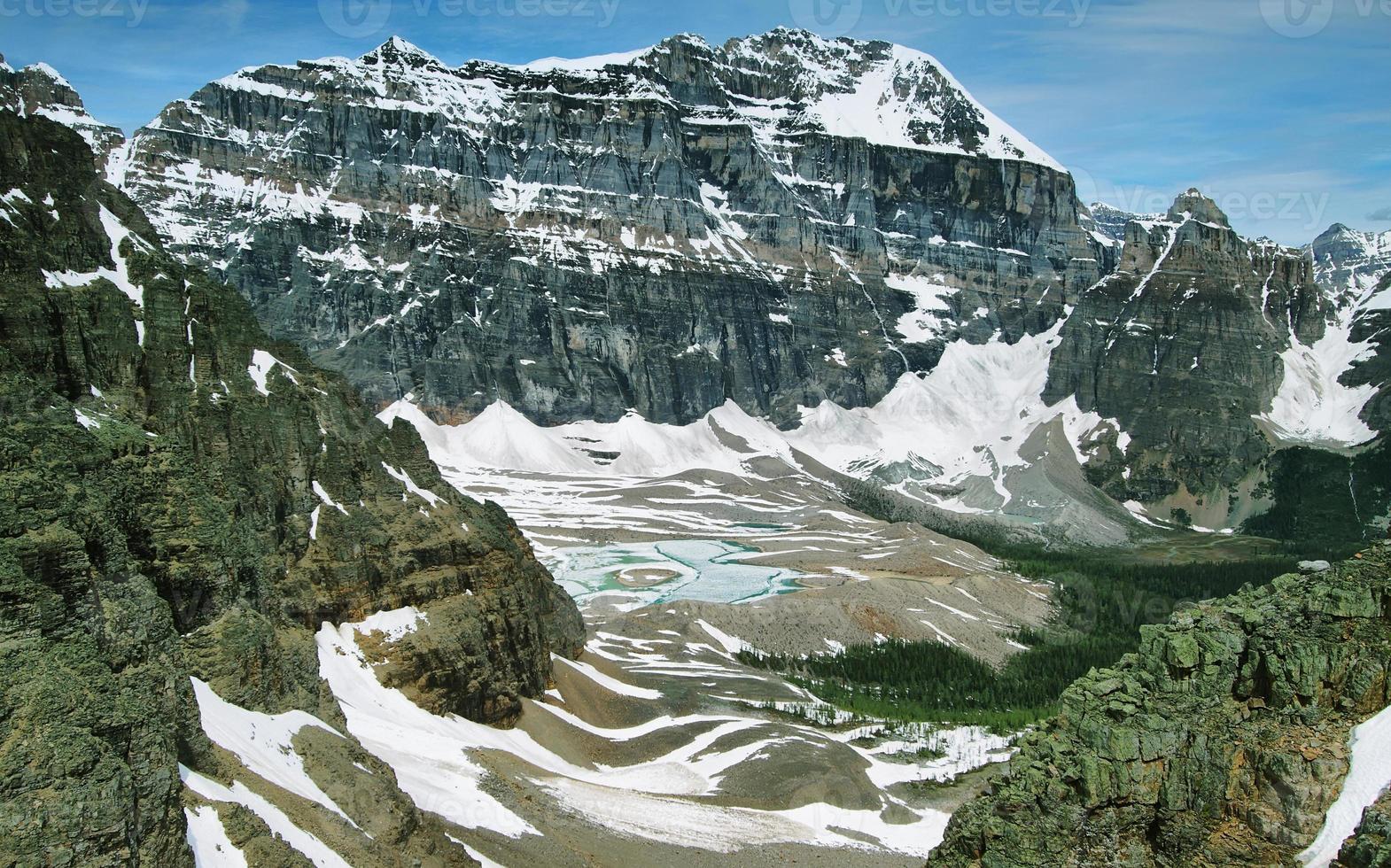 viste sulla valle del paradiso, parco nazionale di banff foto