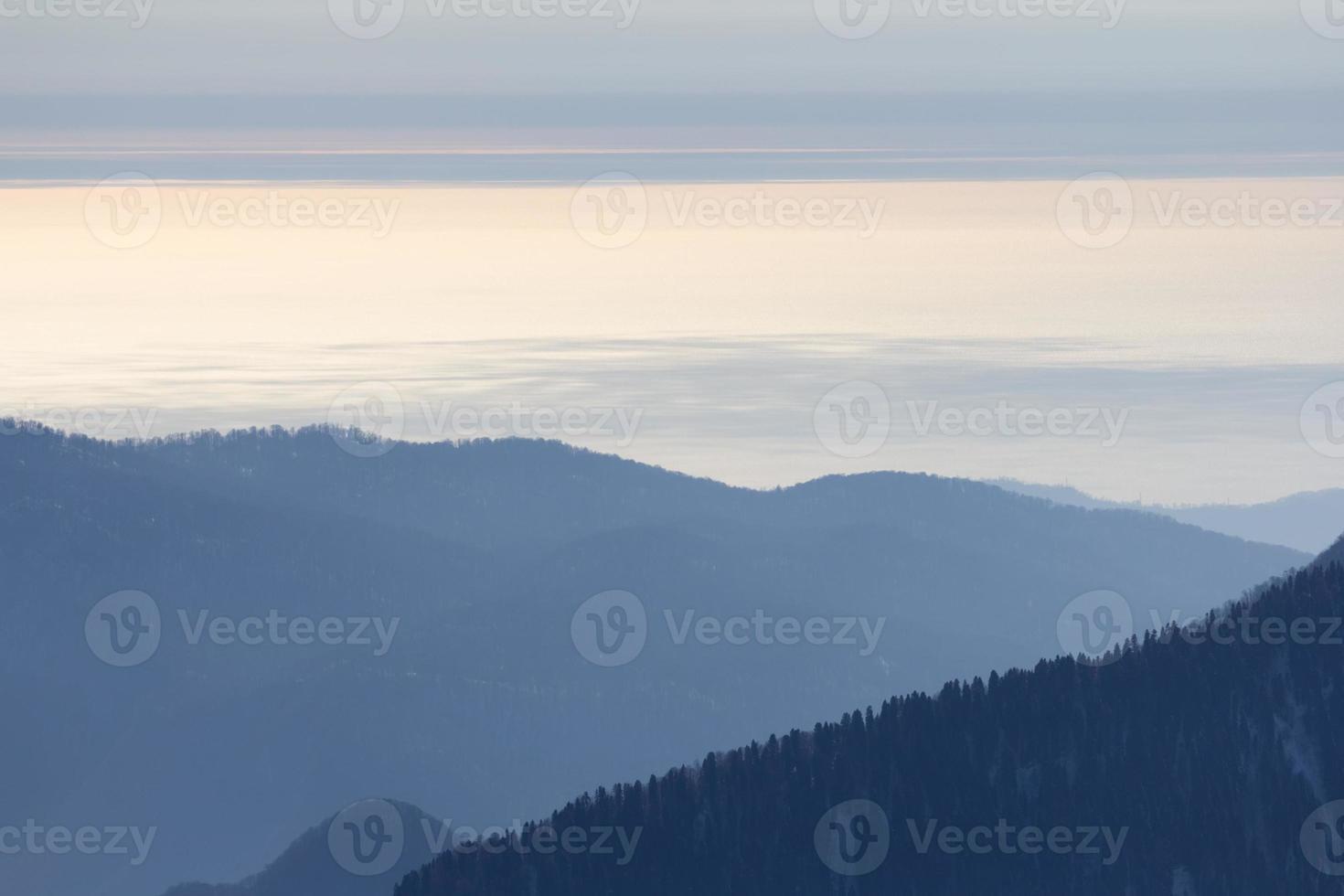 le montagne di Krasnaya Polyana, Sochi, Russia foto