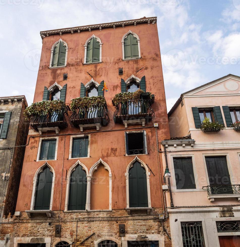 famosa antica casa a venezia foto
