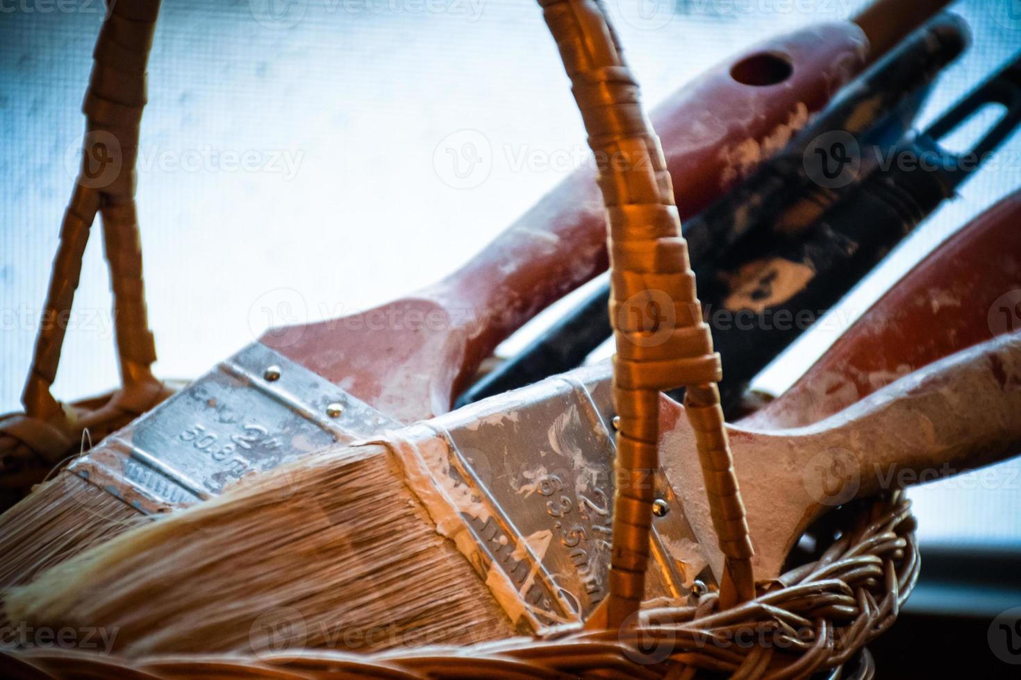 Close up di pennelli foto