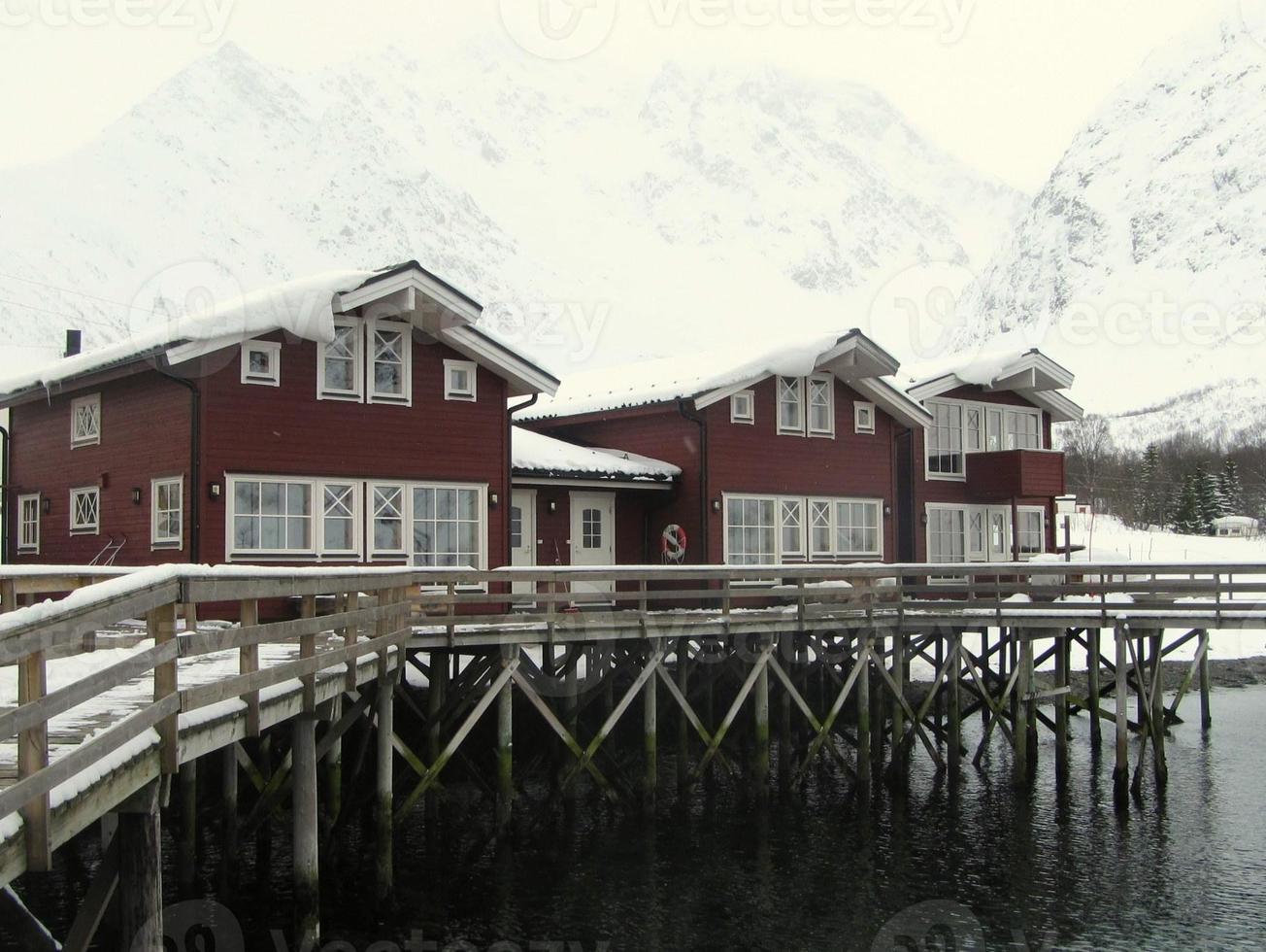 maison traditionnelle de norvège foto
