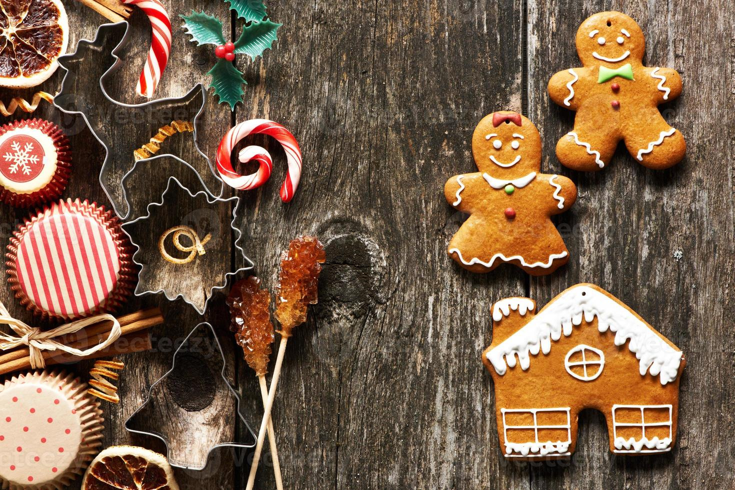biscotti di panpepato fatti in casa di Natale foto