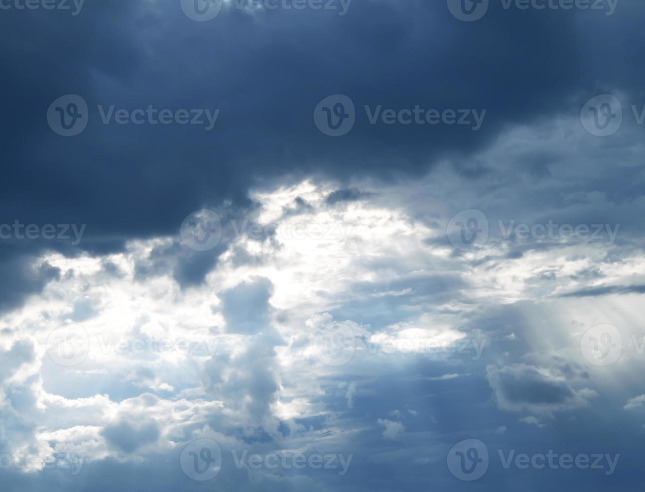 il cielo prima della pioggia foto