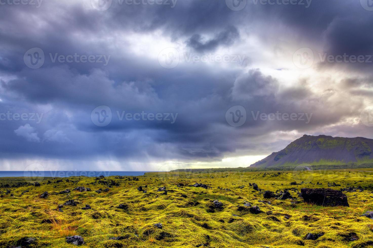 vecchio campo di lava foto