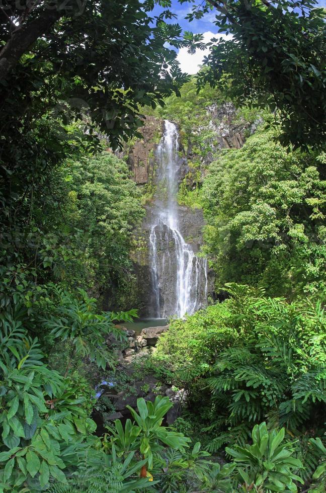 cascate wailua (maui, hawaii) - panorama foto