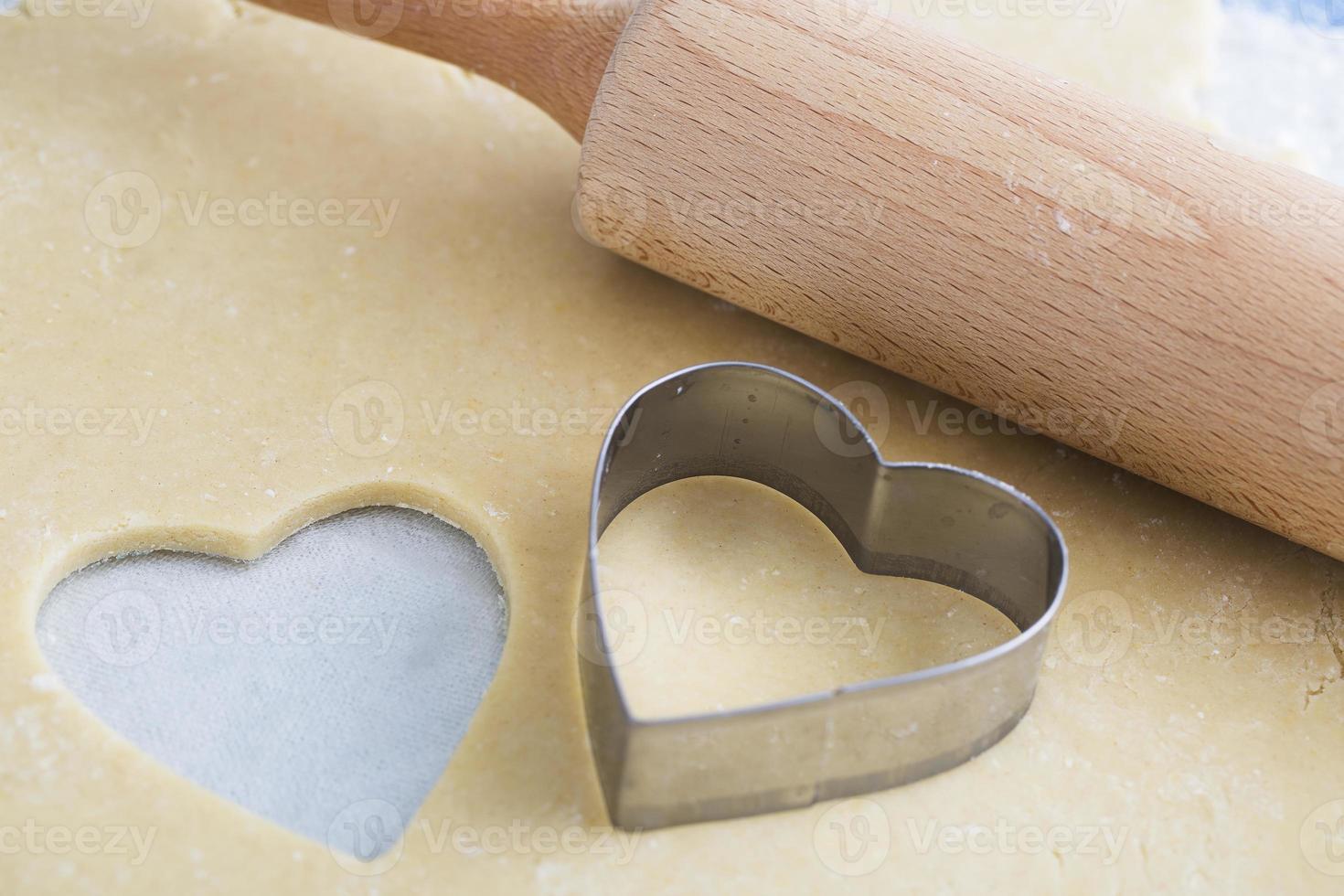 tagliabiscotti a forma di cuore foto