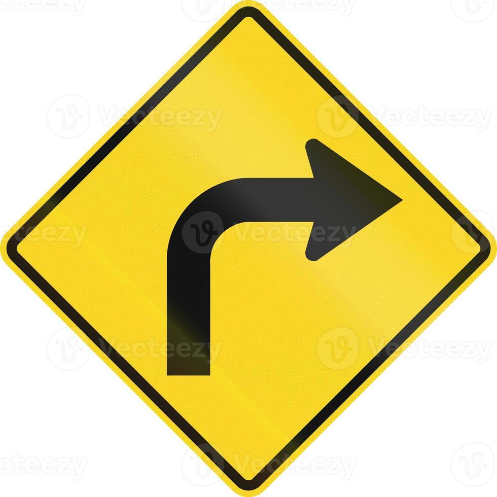 curva a destra avanti in Canada foto