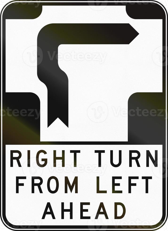 svolta a destra da sinistra in Australia foto