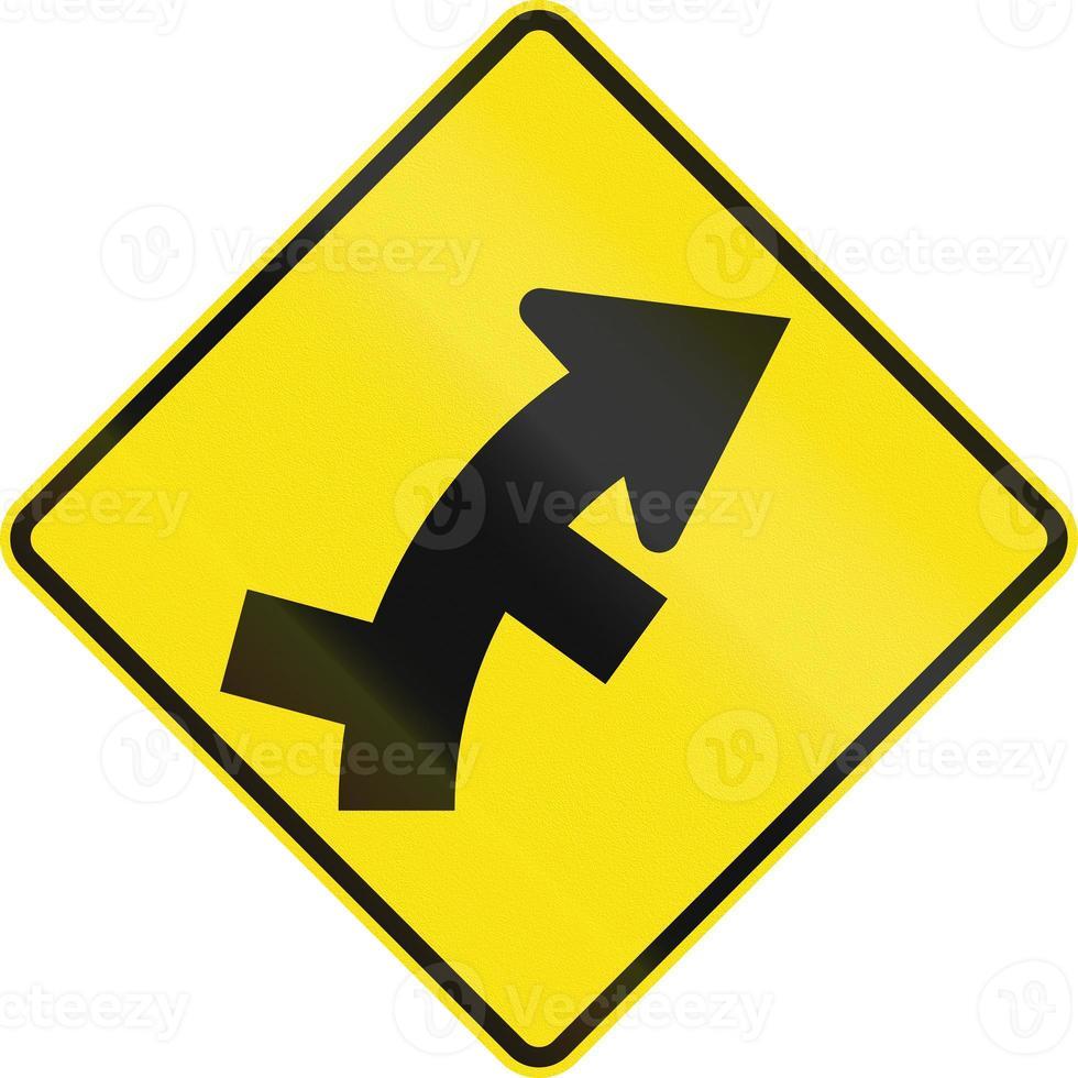offset strade in curva in australia foto