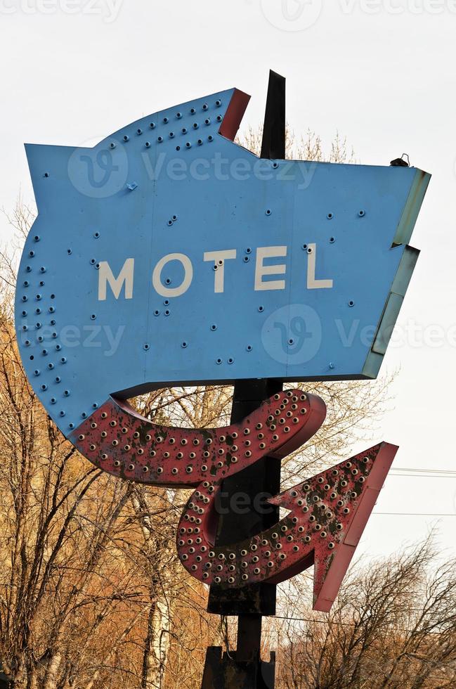 vecchia insegna del motel foto