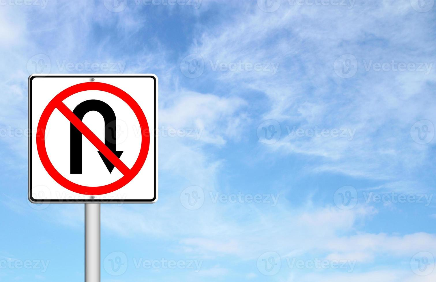 nessun ritorno indietro segnale stradale foto