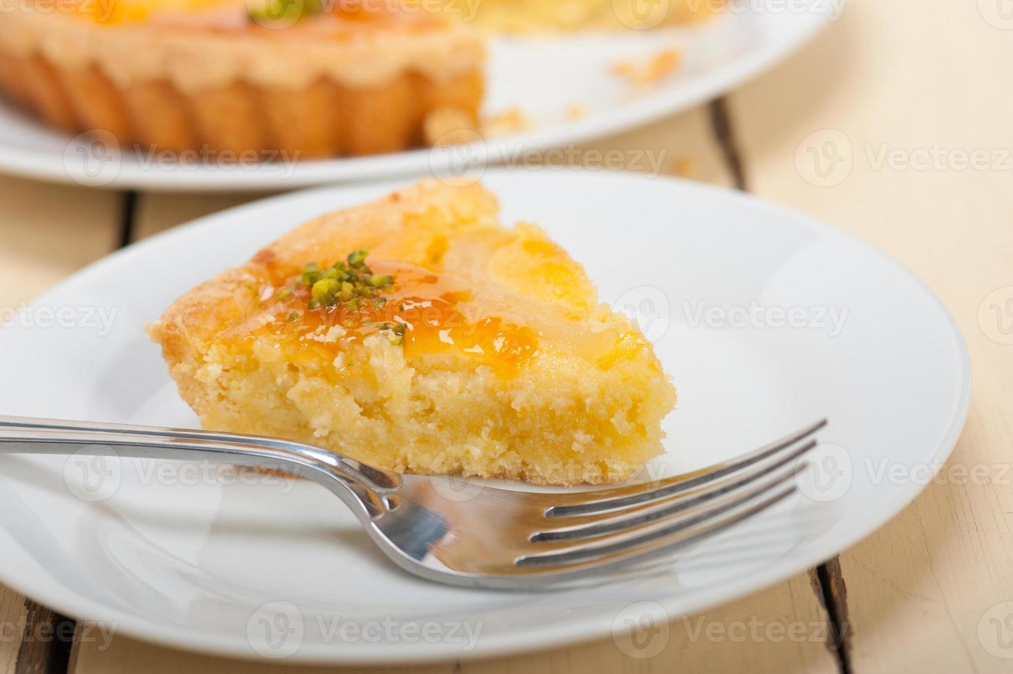 torta dolce torta di pere fresche foto
