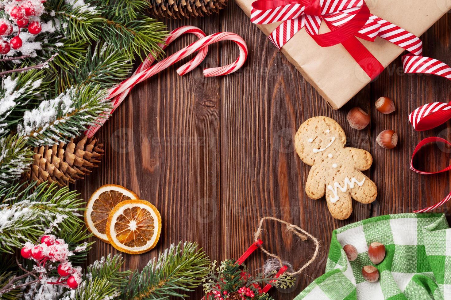 sfondo di legno di Natale foto