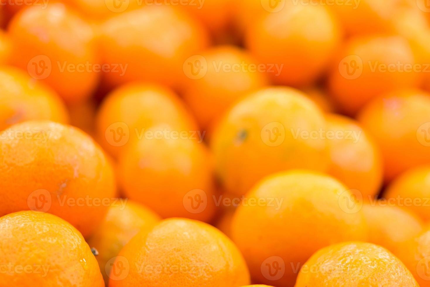 mandarini con goccia d'acqua foto