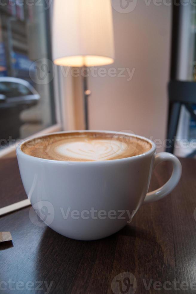 caffè latte - cuore foto