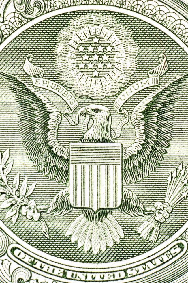 aquila sulla banconota da un dollaro, macro foto