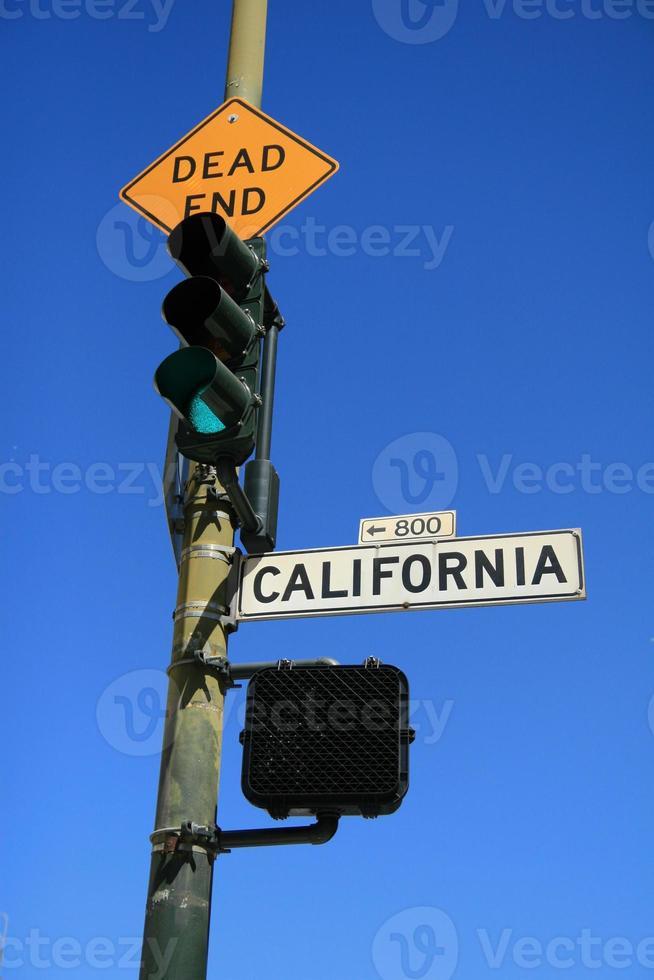 segno e luce della via della california foto