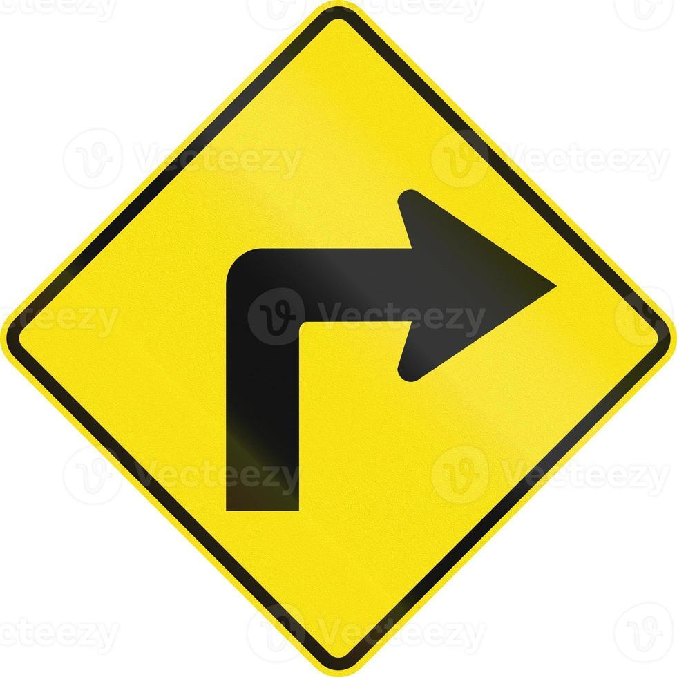curva a destra avanti in australia foto