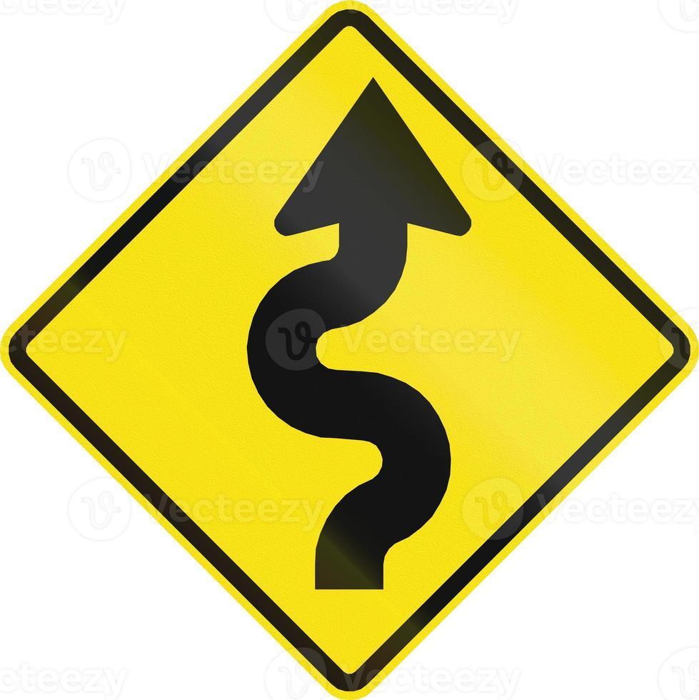 serie di curve prima a destra in Cile. foto
