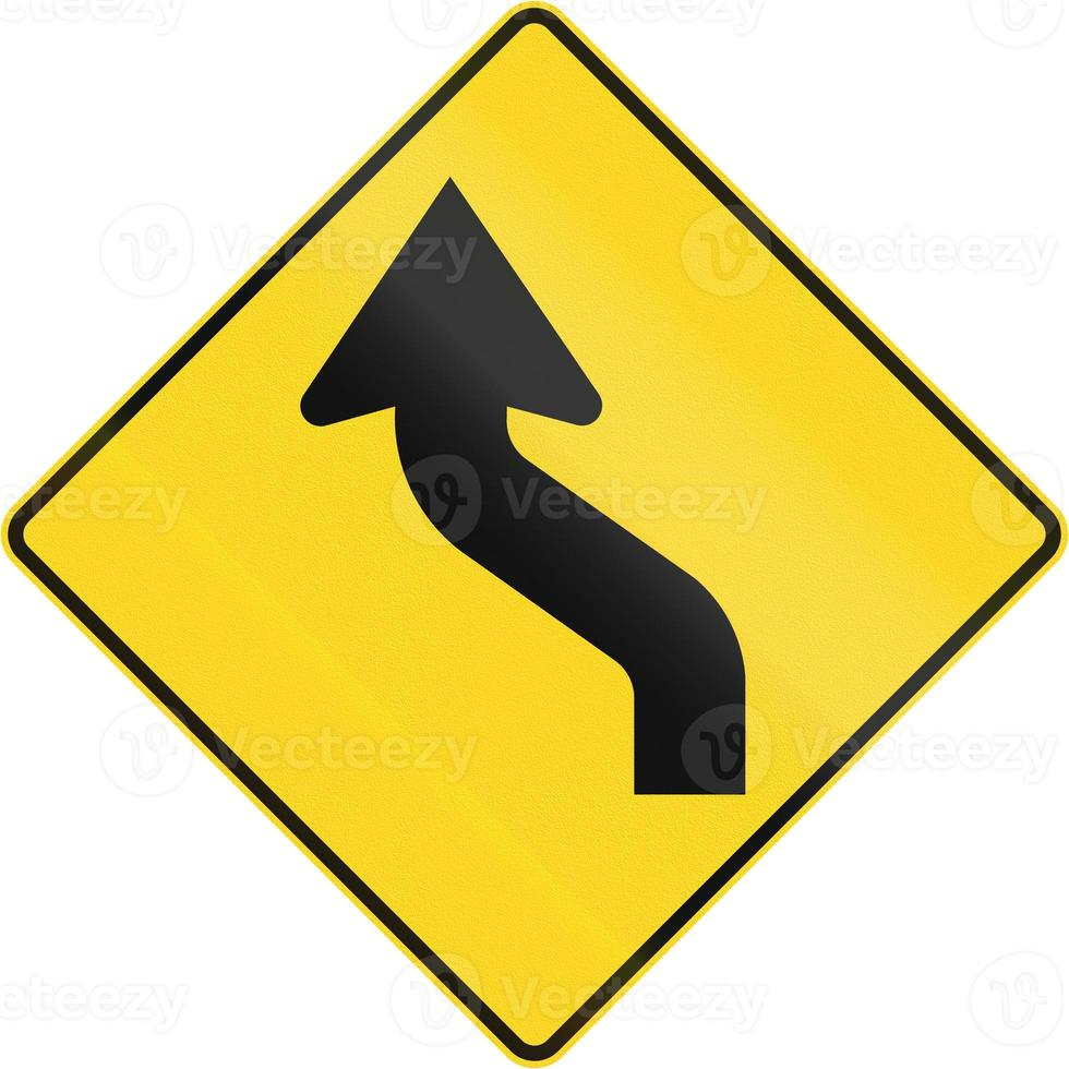 prima curva inversa a sinistra in Canada foto