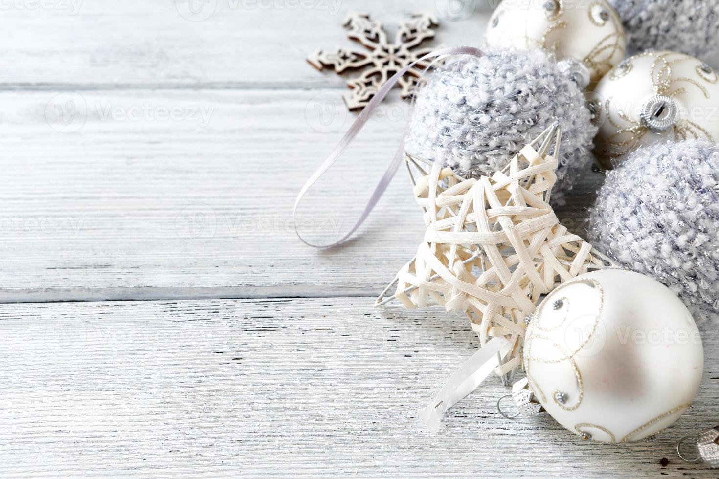decorazioni natalizie in argento foto
