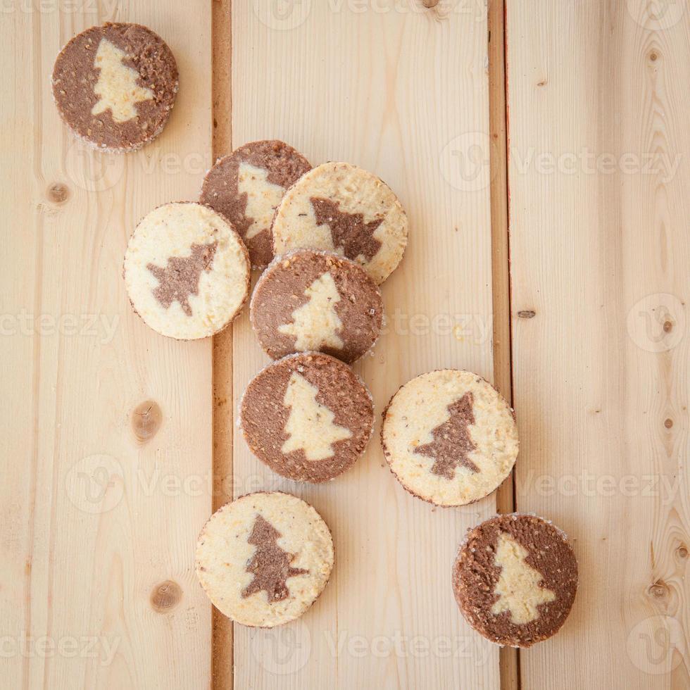 biscotti di pasta frolla per natale foto