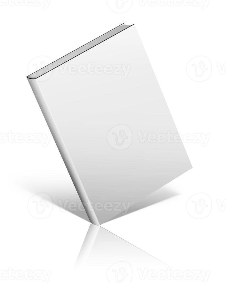 copertina del libro in bianco su sfondo bianco. foto