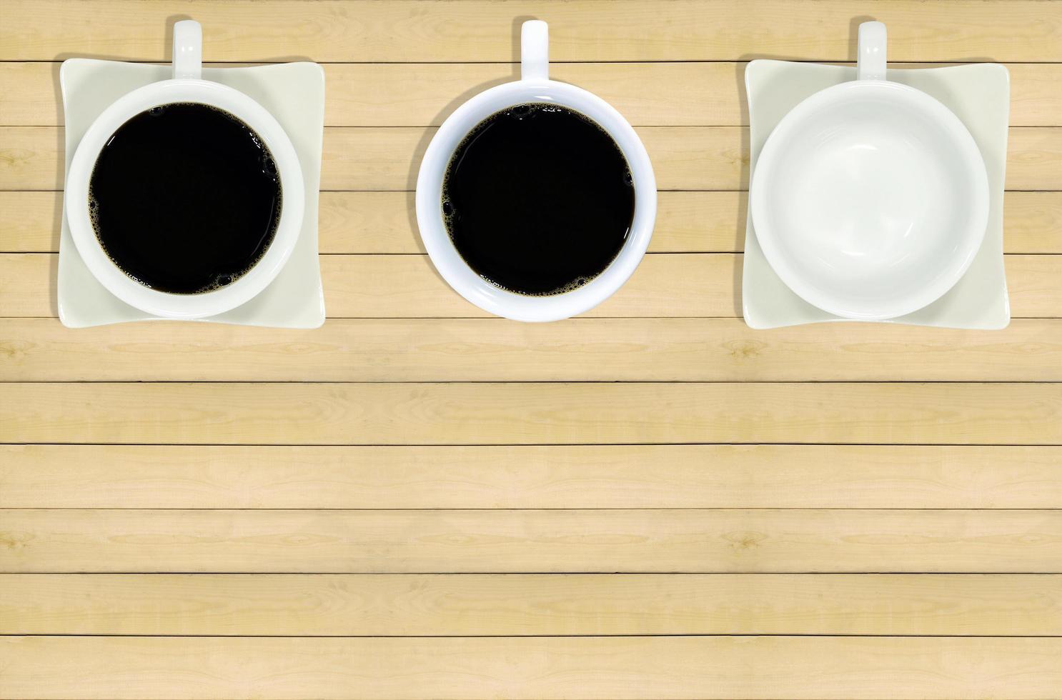 tre tazze da caffè foto