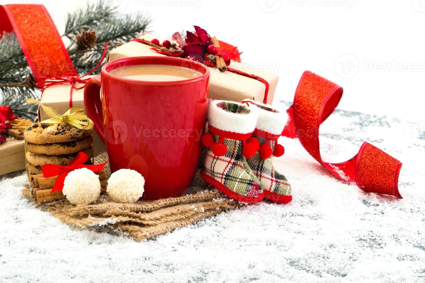 sfondo festivo di Natale foto