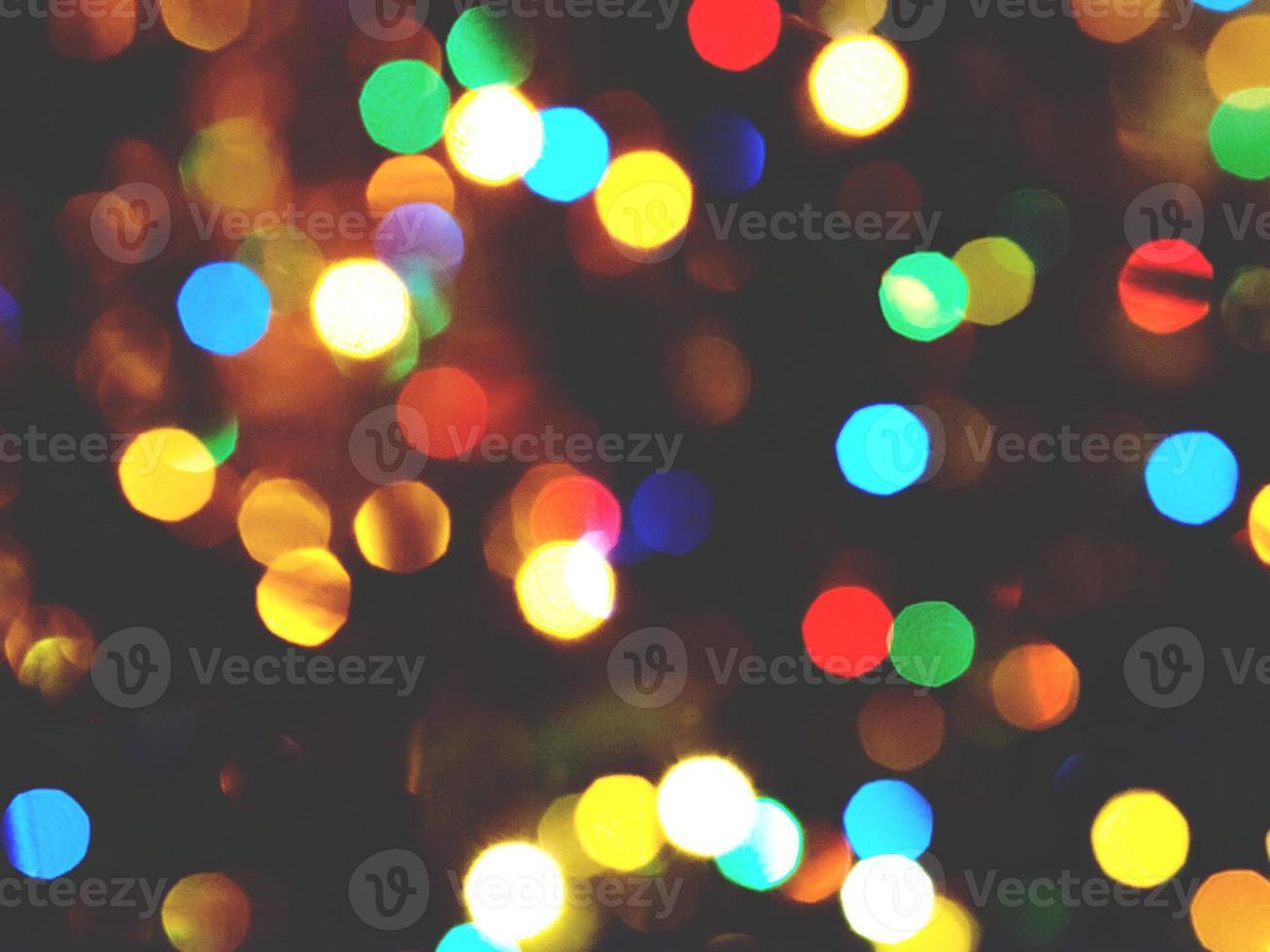 sfondo sfocato di luci di Natale foto