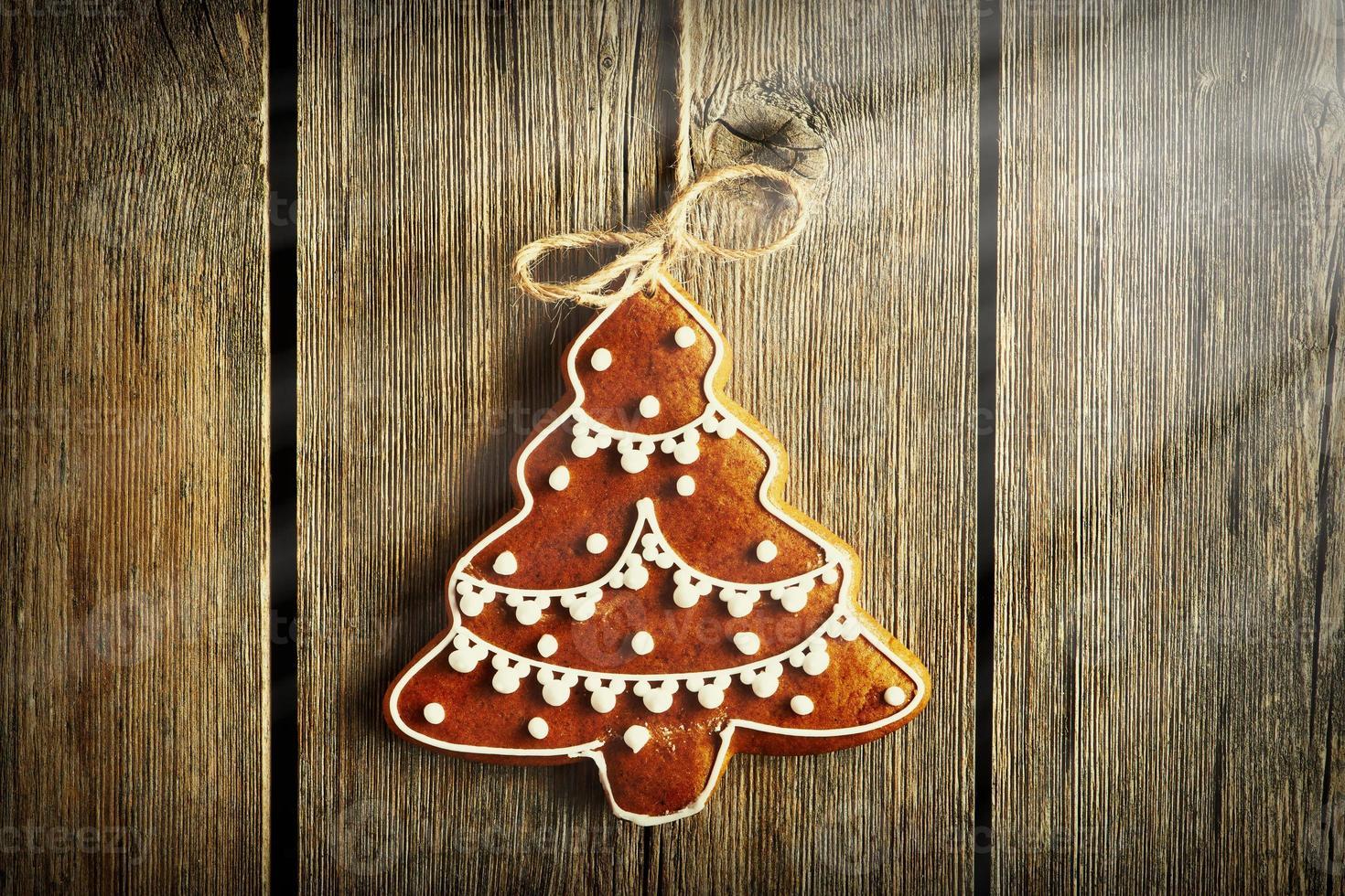biscotto di pan di zenzero fatto in casa di Natale foto
