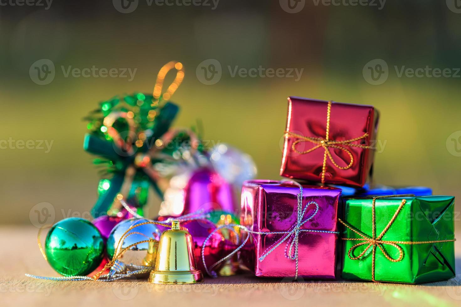 close up decorazioni natalizie foto