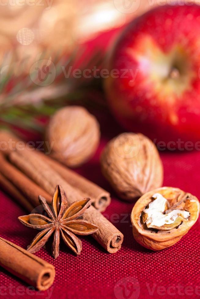ingredienti per la cottura natalizia. foto