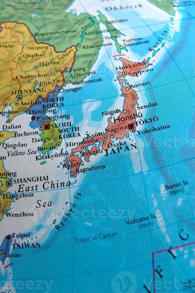 Cartina Del Giappone Politica.Mappa Del Giappone 1389039 Foto D Archivio