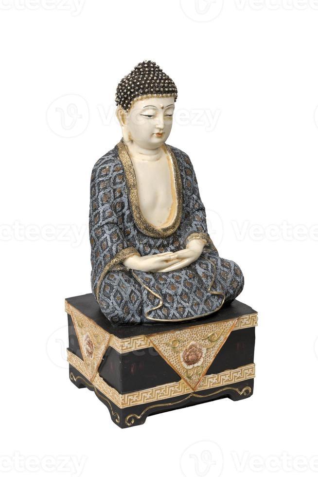 antico buddha colorato foto