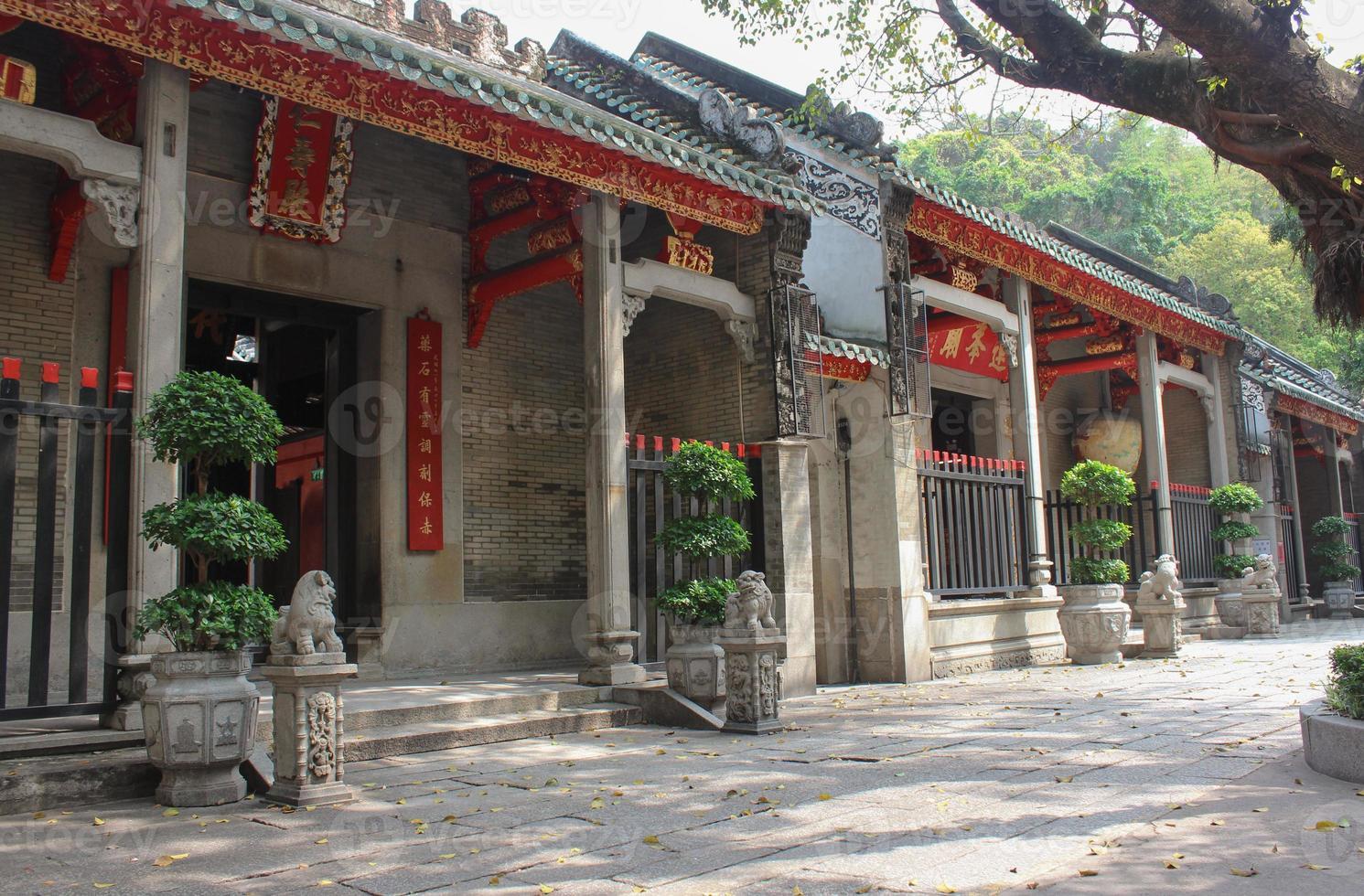 entra nel tempio di lin fung (tempio del loto) a macao foto