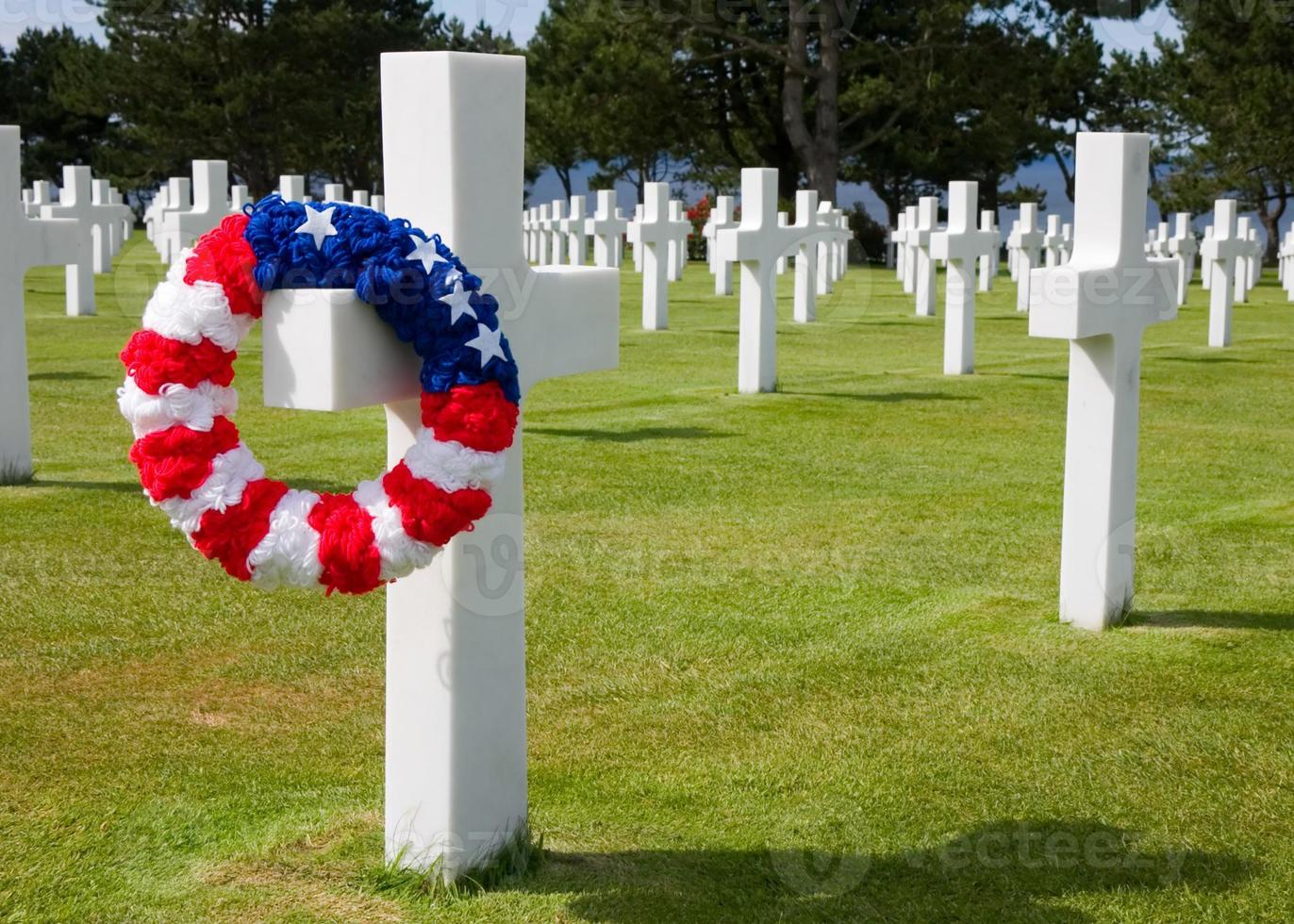 cimitero di guerra americano colleville sur mer francia foto