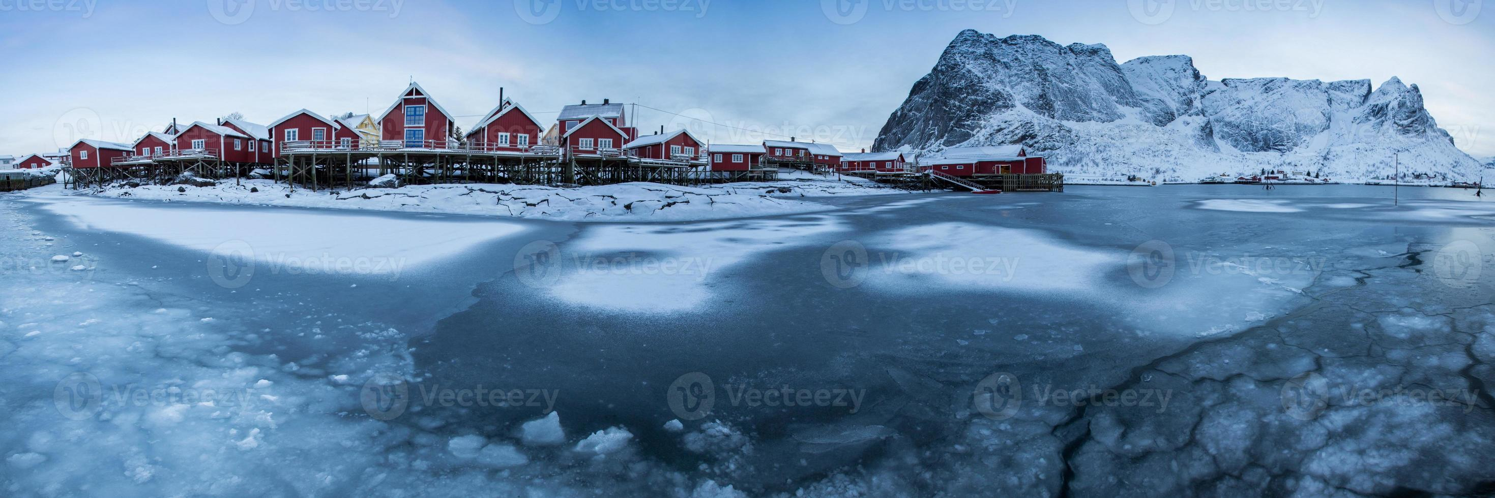 lofoten island diring inverno foto