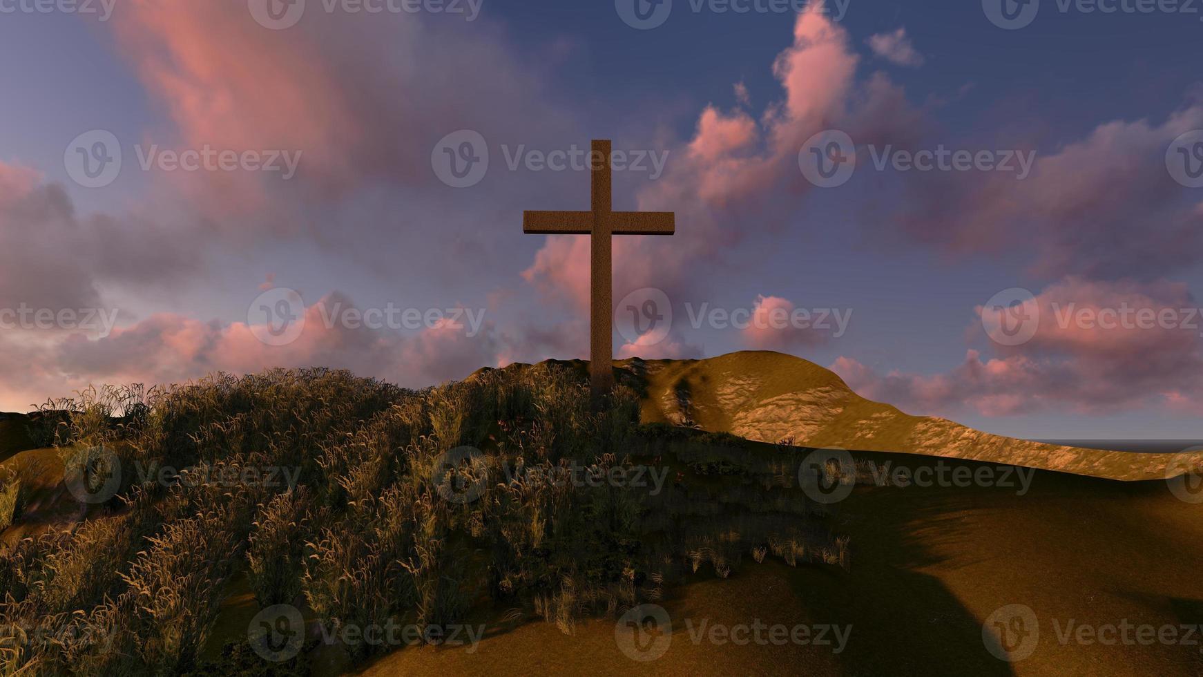 croce su una collina foto