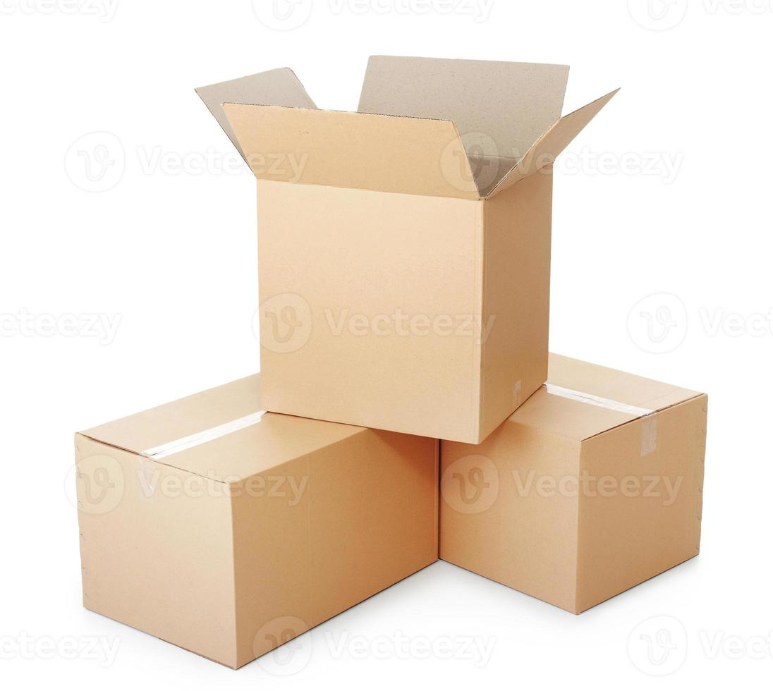 pile di scatole di cartone foto
