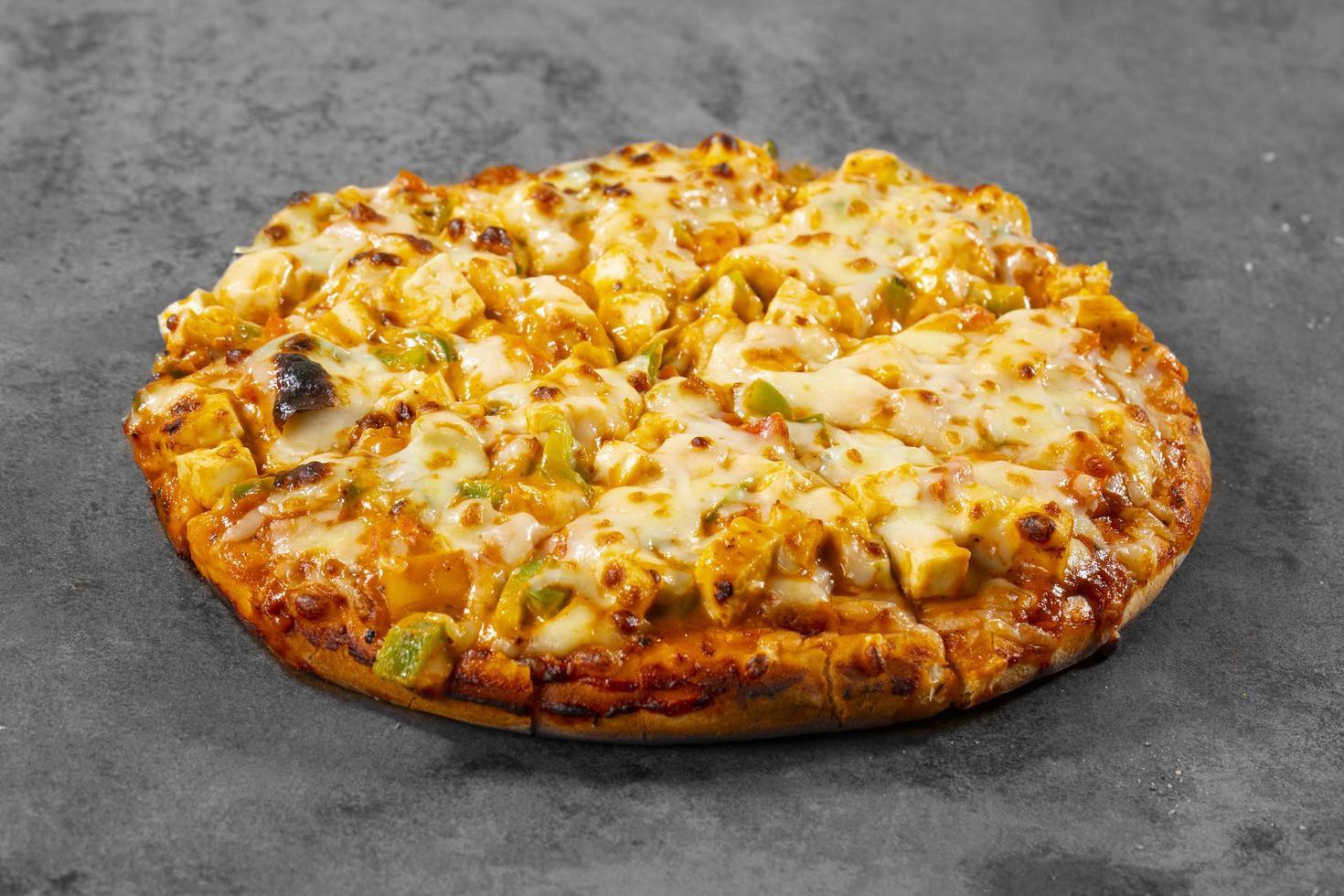 stile indiano di pizza paneer piatto italiano foto