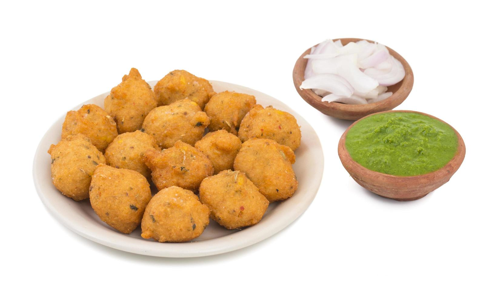 cibo di strada piccante indiano dal vada foto