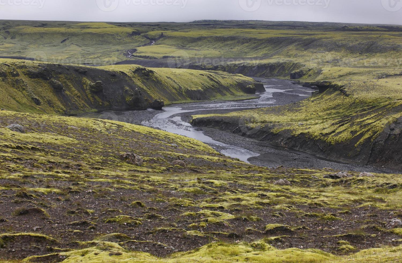 Islanda. zona sud. lakagigar. paesaggio vulcanico. foto