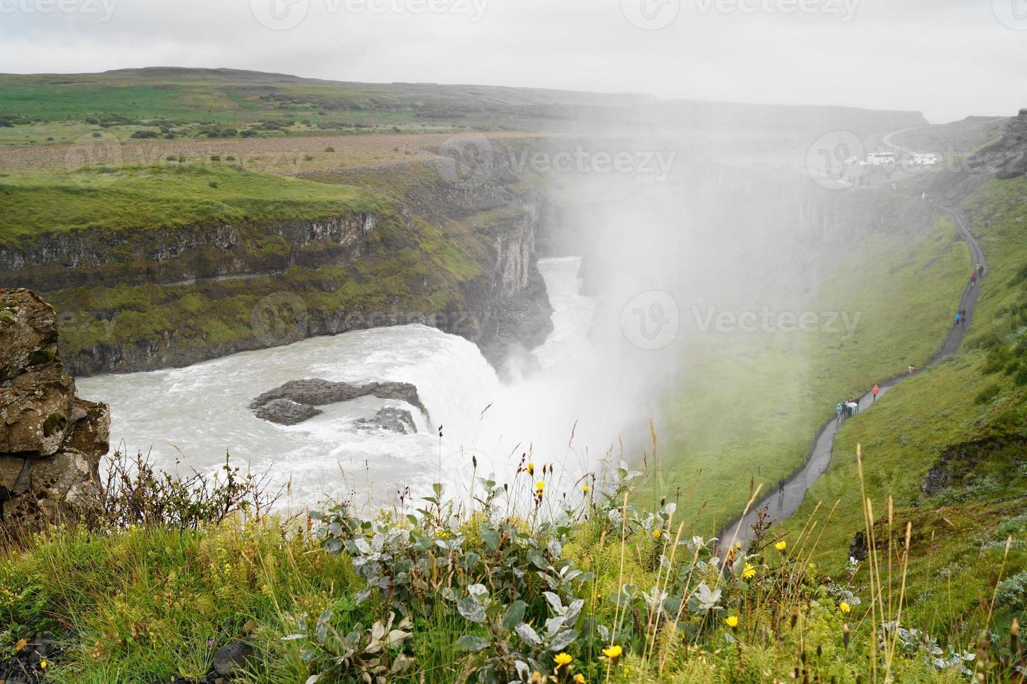 gullfoss, cascata in islanda foto