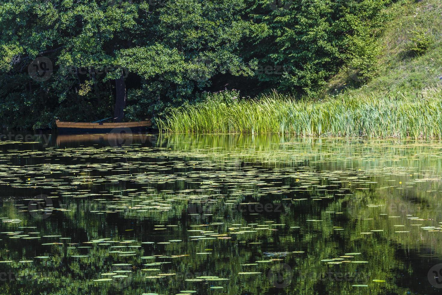 fiume nero hancza a turtul. Polonia foto