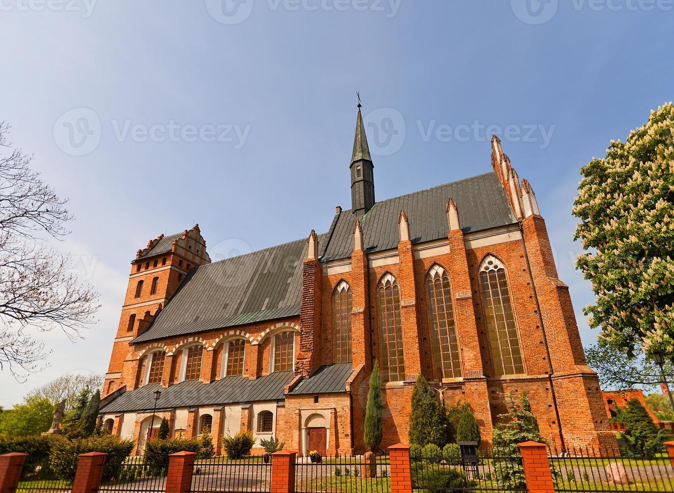 st. Chiesa di Stanislao (1521) nella città di Swiecie, Polonia foto