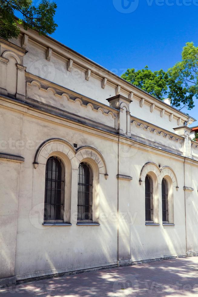 tempel sinagoga nel distretto di cracovia kazimierz -polonia foto