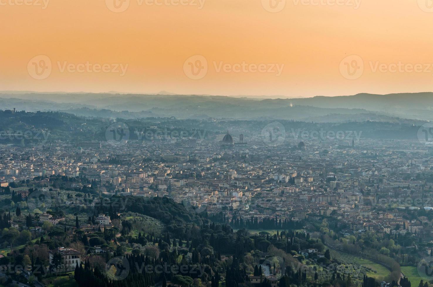 vista panoramica di firenze da fiesole foto